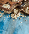 Rolled oats with a wooden spoon - PhotoDune Item for Sale