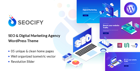 Seocify - SEO And Digital Marketing Agency WordPress Theme Free Download | Nulled