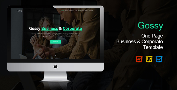 Gossy-One Page Business & Corporate Template