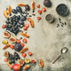 Greek yogurt, fresh fruit and chia seeds bowl, copy space - PhotoDune Item for Sale