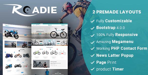 Roadie- Responsive Multipurpose E-Commerce HTML5 Template