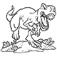 Tyrannosaurus Rex Outline Vector - GraphicRiver Item for Sale