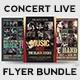 Concert Live Flyer Bundle V6 - GraphicRiver Item for Sale