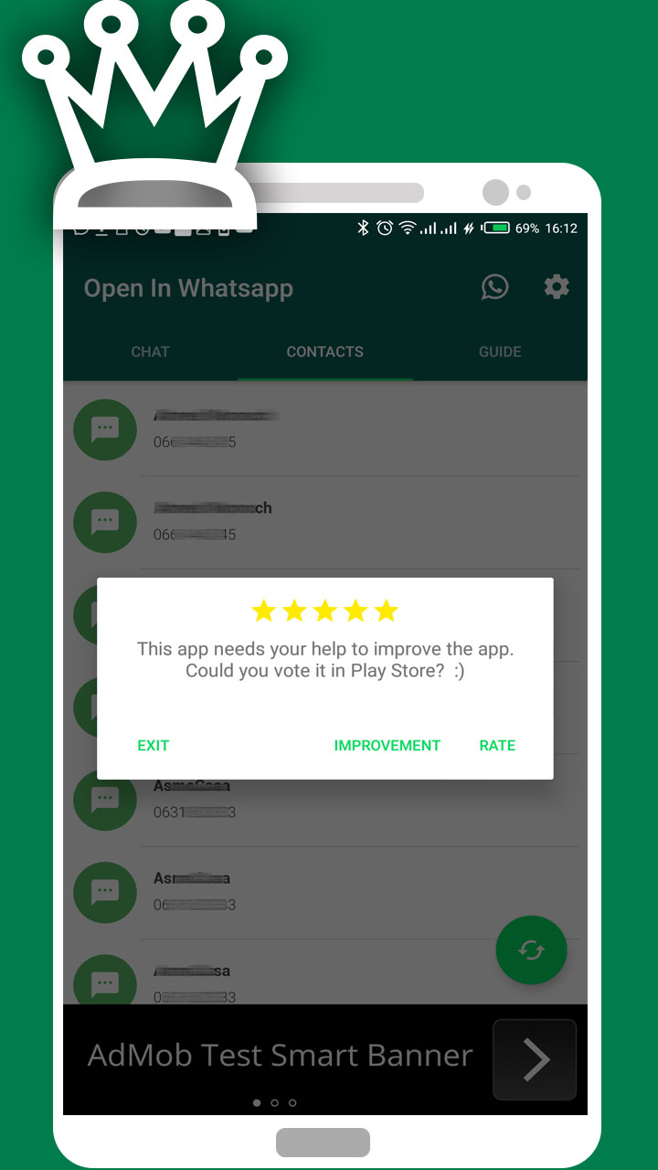 Open Chat in WhatsApp with Unknow Number - Admob & GDPR