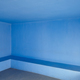 Blue concrete walls indoor room. Minimalist interior architecture. Horizontal - PhotoDune Item for Sale
