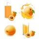 Apricot Juice Collection in Splash - GraphicRiver Item for Sale
