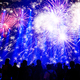 New Year concept with cheering crowd and fireworks - PhotoDune Item for Sale