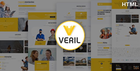Veril - Construction and Industrial HTML Template