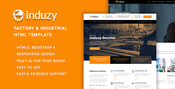 Induzy - Factory & Industrial HTML5 Template - Business Corporate