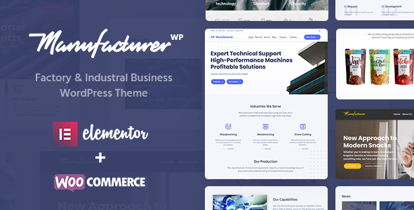 Manufacturer - Factory & Industrial Business WordPress Theme