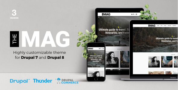 TheMAG - Highly Customizable Drupal 7 and Drupal 8 Blog and Magazine Theme
