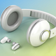 White wireless headphones - PhotoDune Item for Sale