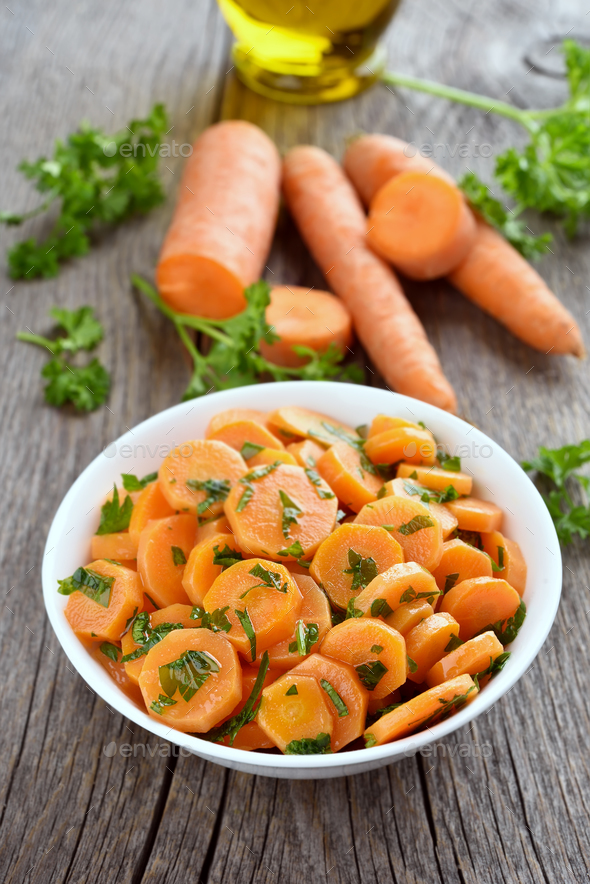 Vegetable salad with carrot - Stock Photo - Images