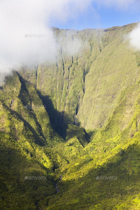 Blue Hole, Kauai, Hawaii - Stock Photo - Images