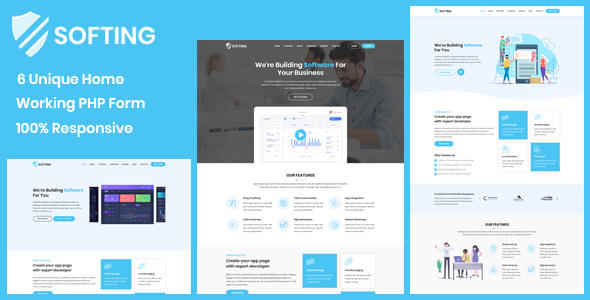 Softing - Software Landing Page Free Download | Nulled
