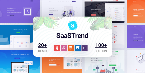 SaaSTrend - Bootstrap SaaS, Startup, Software & WebApp Template