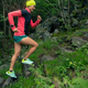 Trail running girl in green forest. - PhotoDune Item for Sale