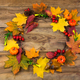 Thanksgiving door wreath with pumpkins and leaves - PhotoDune Item for Sale