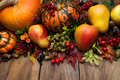 Thanksgiving arrangement with pumpkin and pear - PhotoDune Item for Sale