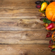 Fall rustic background with pumpkin, pear, copy space - PhotoDune Item for Sale