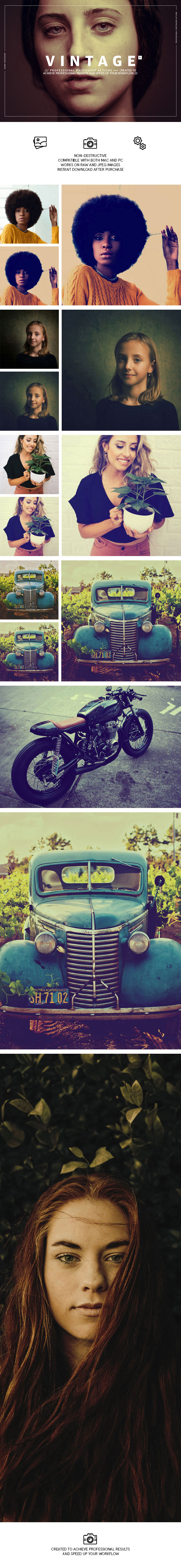 Vintage Photoshop Actions - Photo Effects Actions