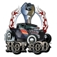 Cartoon Retro Hot Rod with Vintage Lettering - GraphicRiver Item for Sale