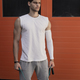 Portrait athletic, muscular man preparing for warming up with ju - PhotoDune Item for Sale