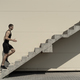 Concept of success and achieving your goal, man climbing stairs. - PhotoDune Item for Sale