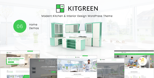 KitGreen - Modern Kitchen & Interior Design WordPress Theme