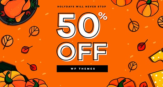 Awesome Fall Sale - 100+ WP Themes