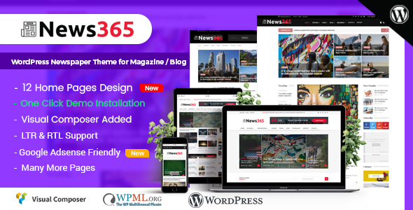 News365 - WordPress Newspaper Theme for Magazine / Blog - Blog / Magazine WordPress