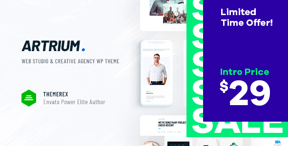 Artrium | Creative Agency & Web Studio WordPress Theme Free Download | Nulled