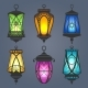 Arabic Lantern Set - GraphicRiver Item for Sale