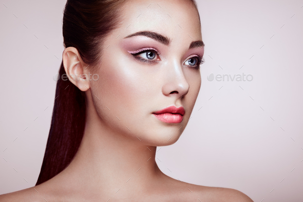 Beautiful Woman Face With Perfect