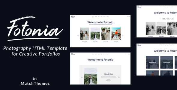 Fotonia - Photography Portfolio Template Free Download | Nulled