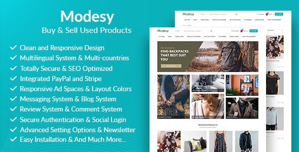 Modesy - Buy & Sell Used Products Free Download | Nulled