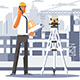 Builder Engineer Phone Calling on Construction - GraphicRiver Item for Sale