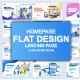 Flat Design Landing Page Templates - GraphicRiver Item for Sale