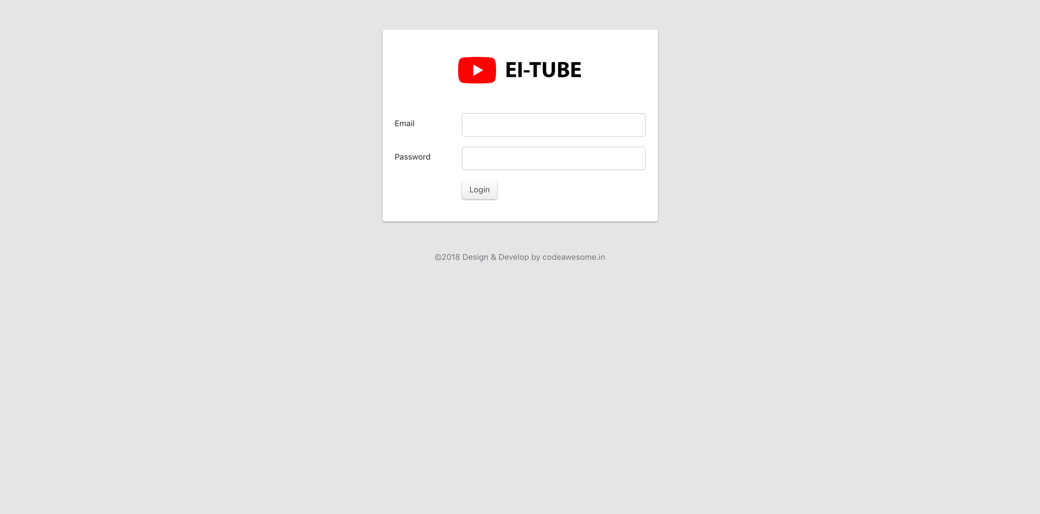 EI-Tube - YouTube API V3 site builder