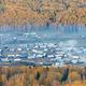 beautiful hemu villages in autumn forest,peaceful pastoral scene - PhotoDune Item for Sale