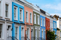 Colorful serial houses in Notting Hill - PhotoDune Item for Sale
