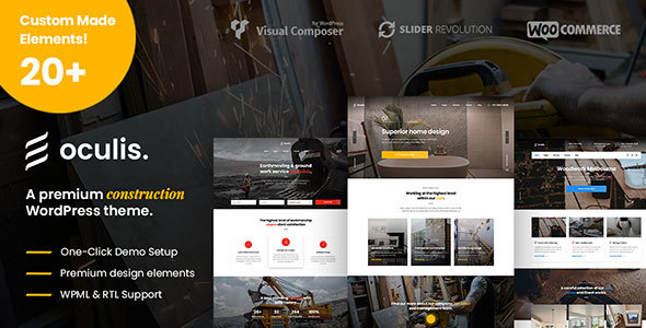 Oculis - Construction & Building WordPress Theme - Business Corporate