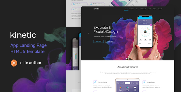 Kinetic - App Landing Page - Apps Technology