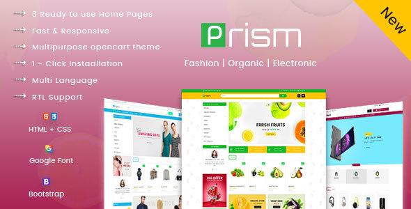 Prism Creative Multipurpose Ecommerce Opencart-3 Theme - OpenCart eCommerce