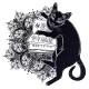 Smart Black Cat Reading the Magic Book. - GraphicRiver Item for Sale