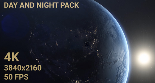 Earth Day And Night From Space