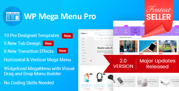 WP Mega Menu Pro - Responsive Mega Menu Plugin for WordPress - CodeCanyon Item for Sale