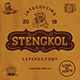 Stengkol Font Family - GraphicRiver Item for Sale