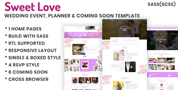 Lavender - Wedding Event, Planner & Coming Soon HTML Template Free Download | Nulled