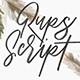 Rups Script Brush Font - GraphicRiver Item for Sale